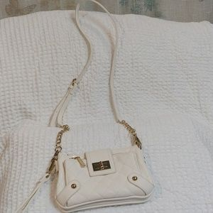 Charming Charlir Quilted Cream Colored Crossbody